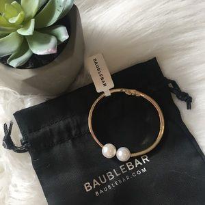 🆕 BaubleBar Pearly Bead Hinge Bracelet NWT